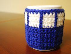 Crochet Tardis Mug C