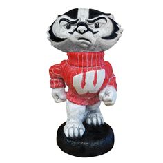 Wisconsin Badgers NCAA Bucky Badger College Mascot 20in Full Color Statue