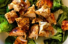 This is a great balanced meal incorporating fibrous greens and chicken for protein. Gluten Free Recipes For Lunch, Raw Food Recipes, Diet Recipes, Chicken Recipes, Cooking Recipes, Healthy Recipes, Healthy Meals, Diabetic Recipes, Healthy Food