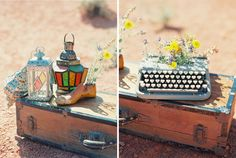outdoor desert boho reception ideas valley of fire | photo: gaby j photography | prop stylist: @nrvintage