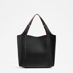 ZARA - WOMAN - METALLIC DETAIL SHOULDER BAG