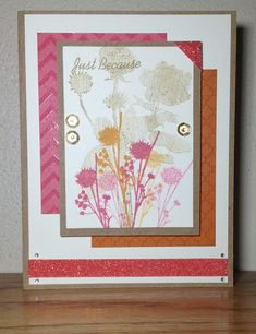 Show and Tell, with Michelle: September 2015 Stamp of the Month ~ Paper Garden