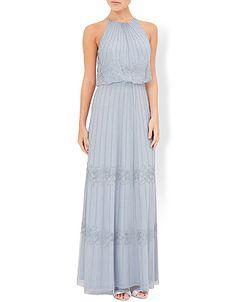 Monsoon | Buttercup Maxi Dress | Blue | 12 | 2401050212
