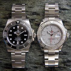 Two of my favorites together. 114060 No Date Submariner 16622 Platinum dial/bezel Yacht Master #Rolex #submarinernodate #114060 #womw #116610 #116622 #wristporn #wristwatch #watchuseek #16622 #wwatches #watchoftheday #rolexdiver #divewatch #toolwatch #Mondani #instawatch #watchcollector #watchshot #watchgeek #ultimate_watches #swissmade #dailywatch #watchfam #luxurywatch #watchapp #teamwatchanish #rolexwatch #watchmania #submariner by rolexdiver