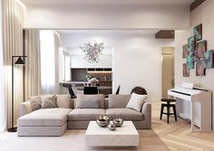 Shamsudin Kerimov designs a pale theme contemporary apartment in Moscow - CAANdesign