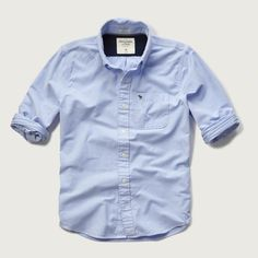 Mens Iconic Oxford Shirt | Mens Shirts | Abercrombie.co.uk