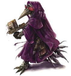 A little bit of photoshop goes a long way.  Profile picture of Kurt's Kenku Artificer replete with repeating crossbow and ruby lenses.