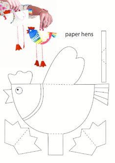 Tavuk Kalıbı - Story Tutorial and Ideas Easter Activities, Easter Crafts For Kids, Summer Crafts, Diy For Kids, Activities For Kids, Diy And Crafts, Arts And Crafts, Chicken Crafts, Diy Ostern