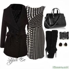 Black and White Winter 2015 teens fashion clothes