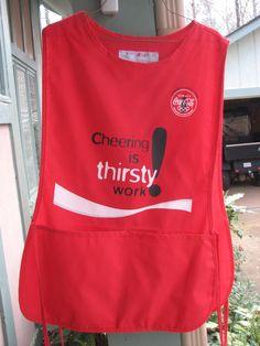 Coca-Cola 1996 Olympics Cheering Apron with Pockets