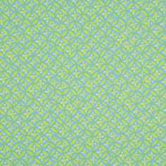 306307 Spring Green/Parakeet Blue Geometric Printed Cotton Poplin 56"