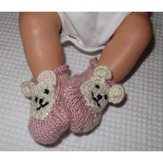 Here is my Baby Bear Silk Boots knitting pattern. The boots are quick and easy and knitted in one piece with a roll brim top. The bears only require the most basic embroidery skills.