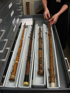 Flute walking sticks from the Dayton Miller Flute Collection, Library of Congress, Washington DC