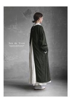 BerryStyle: Joie de Vivre 벨기에 린넨 와셔 인플레이션 숀 원피스 | 라쿠텐 일본 Mori Girl Fashion, Modest Fashion, Boho Fashion, Fashion Outfits, Womens Fashion, Iranian Women Fashion, Japan Outfit, Hijab Fashion Inspiration, Layered Fashion