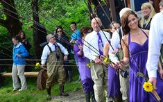 A super fun River Wedding - bride and groom like fly fishing! #wedding #fishing