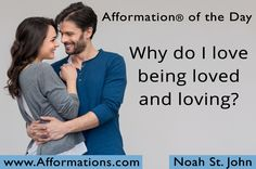 -------------- ‪#‎AfformationoftheDay‬ : Why do I love being loved and loving? -------------- Keep love in your heart. The consciousness of loving and being loved brings a warmth and richness to life that nothing else can bring.