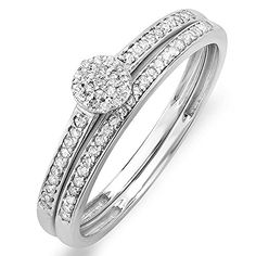 0.20 Carat (ctw) 10k White Gold Round Diamond Ladies Bridal Ring Engagement Matching Band Set 1/4 CT (Size 7) null http://www.amazon.com/dp/B009ZA9DUY/ref=cm_sw_r_pi_dp_G5yeub1P8PNB1