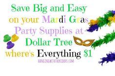 $1 Mardi Gras Party Supplies