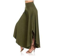 Solme New Elegant Irregular Ruffles Wide Leg Pants Women High Waist Pleated Pants Femme Casual Loose Streetwear Trousers Ruffle Pants, Pleated Pants, Trousers Women, Pants For Women, Baggy Trousers, Streetwear, Pantalon Large, Vestido Casual, Casual Skirts