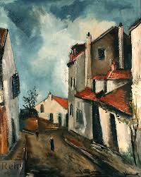 Rue de Village (c. by Maurice de Vlaminck French, oil on canvas - he is considered one of the principal figures in the Fauve movement, a group of modern artists who from 1904 to 1908 were united in their use of intense colour. (wiki) - (The Athenaeum) Art Fauvisme, Fauvism Art, Henri Matisse, Raoul Dufy, Impressionist Landscape, Landscape Paintings, Maurice De Vlaminck, Andre Derain, Munier