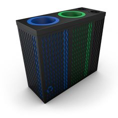 ALFA Recycling Bins And Waste Bins for Office w/ Compartment for Cups / Cans