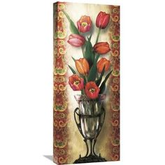 Global Gallery 'Paisley Tulip' by Alma Lee Painting Print on Wrapped Canvas Size: