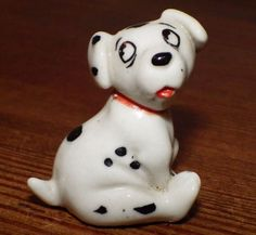WADE Vintage Porcelain Model Dog ROLLY (from Disney 101 Dalmations)
