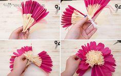 como hacer una flor gigante