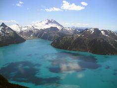 Panorama Ridge, Vancouver. The view of Garibaldi Lake