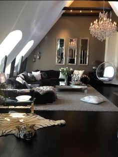 Elements of Style Blog   Design Crush  Rose Uniacke   http www   black grey silver living room  but take away the bearskin rug. Black And Silver Living Room. Home Design Ideas
