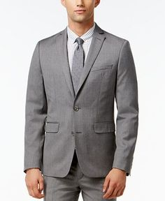 Bar III Light Grey Extra Slim-Fit Suit Separates - Bar III - Men - Macy's
