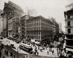 Broadway at Cortlandt to Liberty Street.. site of Singer and City Investing Building