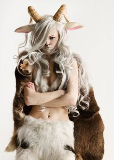 This is the prettiest/poutiest satyr you'll ever see. | Photo by Anders Hansen. I LOVE her ears and hair.