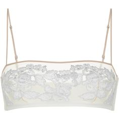 La Perla Moonlight Non-Wired Bandeau Bra (€220) ❤ liked on Polyvore featuring intimates, bras, lingerie, tops, underwear, undergarments, natural, nude bra, sheer bandeau bra and wired bra