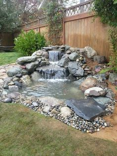 Water fall heaven Water fall heaven Related posts: Backyard Water Feature atemberaubende Garten Teich Wasserfall Design-Ideen – Backyard Water Garden Water feature in garden 55 Most Popular Pond and Water Garden Ideas For Beautiful Backyard Small Front Yard Landscaping, Small Backyard Landscaping, Ponds Backyard, Landscaping Ideas, Backyard Waterfalls, Backyard Ideas, Outdoor Ponds, Landscaping Shrubs, Patio Ideas