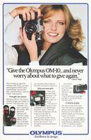 Olympus OM-10 Cheryl Tiegs 1980 Ad Picture