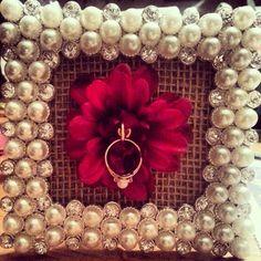 Wedding ring / Engagement ring holder. Diy!