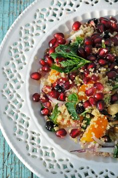Moroccan Pomegranate Couscous | footprints in the butter
