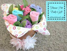 DIY Baby Gift: Flower Pot of Baby Stuff - Sidetracked Sarah