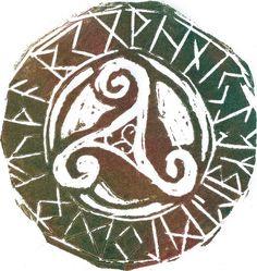 Triskel runes by EmmyvanRuijven.deviantart.com on @deviantART