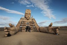 AfrikaBurn is an annual event held in South Africa. Artists are invited to display their work, then light them up in a blaze of glory - Burning Man-style. Here is Daniel Popper's massive sculpture.