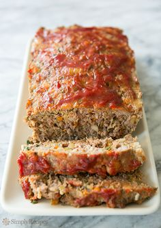 Classic Meatloaf on Simply Recipes. Starts of with a sofrito of carrots onion celery and garlic, then uses italian pork sausage along with the hamburger. Sounds good.
