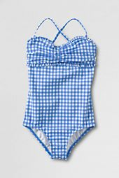 blue checkered swimsuit