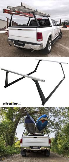 Truck bed ladder rack gives you extra space for long loads. Get 500 lbs of raised cargo-hauling capacity to go with your truck bed storage. Use the rack for work and haul ladders, lumber, pipe, and rebar. Or take a break from the mines and use your Adarac for play, strapping on kayaks, canoes, skis, snowboards, or hunting equipment.