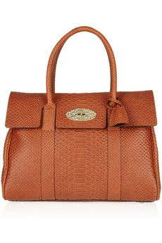 Mulberry Bayswater Snake Effect Leather Bag