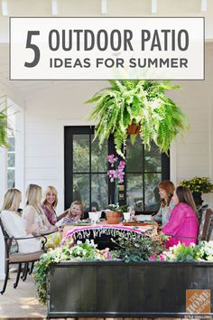Blogger brittanyMakes shows her top 5 outdoor patio ideas to get you planning for summer! Use simple updates like new geometric throw pillows or a fresh coat of deck paint for a fresh feel.