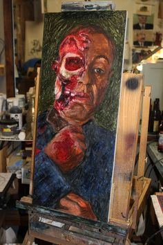The End of Gustavo Fring from Breaking Bad - Oil on Panel. $100.00, via Etsy.