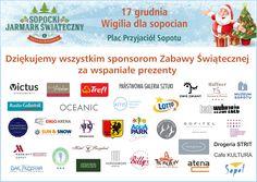 Loterię świąteczną udało się zorganizować dzięki wsparciu sponsorów, DZIĘKUJEMY !!