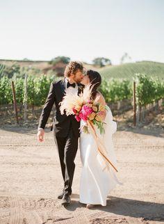 Rustic and romantic vineyard wedding