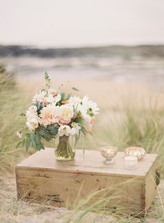 Beach Wedding Inspiration in a soft, muted palette
